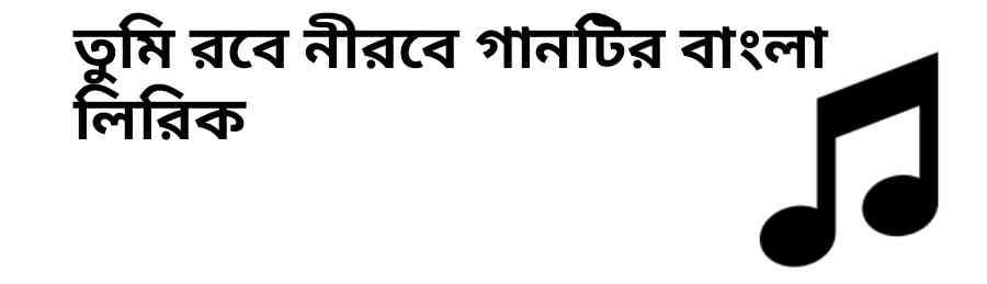 রবে নীরবে গানটির বাংলা লিরিক