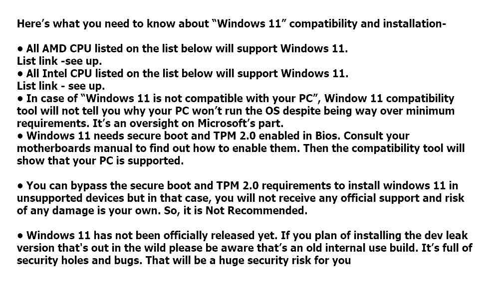 Windows 11 compatibility and installation