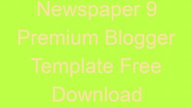 Photo of Newspaper 9 Premium Blogger Template Free Download